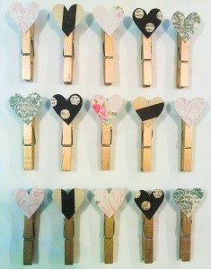 Clothes Pin Heart Magnets 2