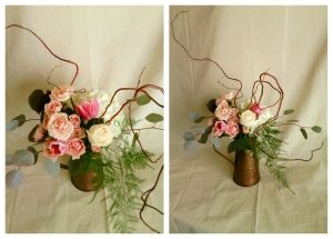 Marsala flower arrangement