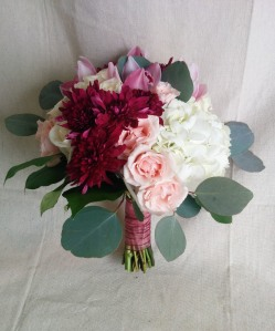Marsala wedding bouquet 2