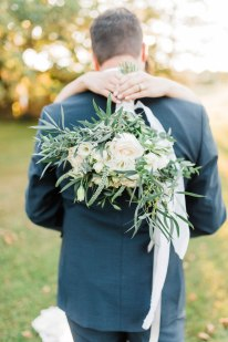 White and foliage bouquet with lots of eucalyptus