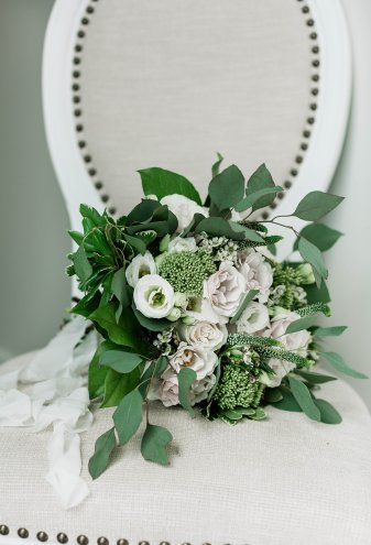 White and foliage bouquet