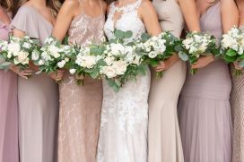 Cait's ivory and foliage bouquets
