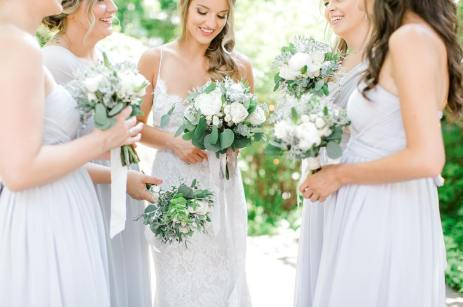 Foliage with ivory florals