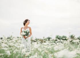 Katie in a field of queen anne's lace