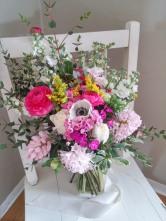 Vibrant wild garden bouquet